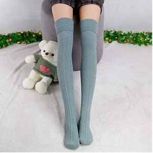 Accessories - Over-the-knee Cable Knit Jacquard Thigh High Sock